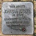Stolperstein Feuerweg 1 (Wittn) Johanna Zickel.jpg