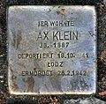 Stolperstein Goßlerstr 19 (Fried) Max Klein.jpg