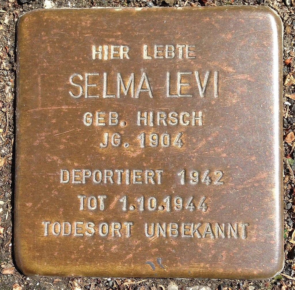 Stolperstein Herborn Nassaustraße 3 Selma Levi