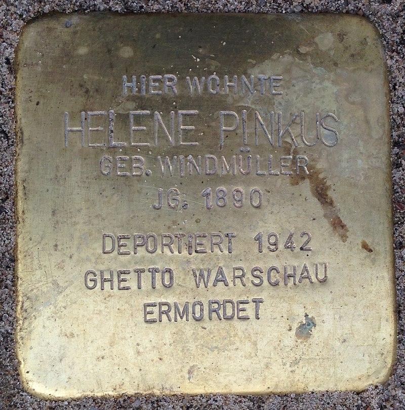 Stolperstein Porta Westfalica Hauptstraße 12 Helene Pinkus