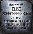 Stolperstein Salzburg, Elise Scheckenberger (Linzer Gasse 38).jpg