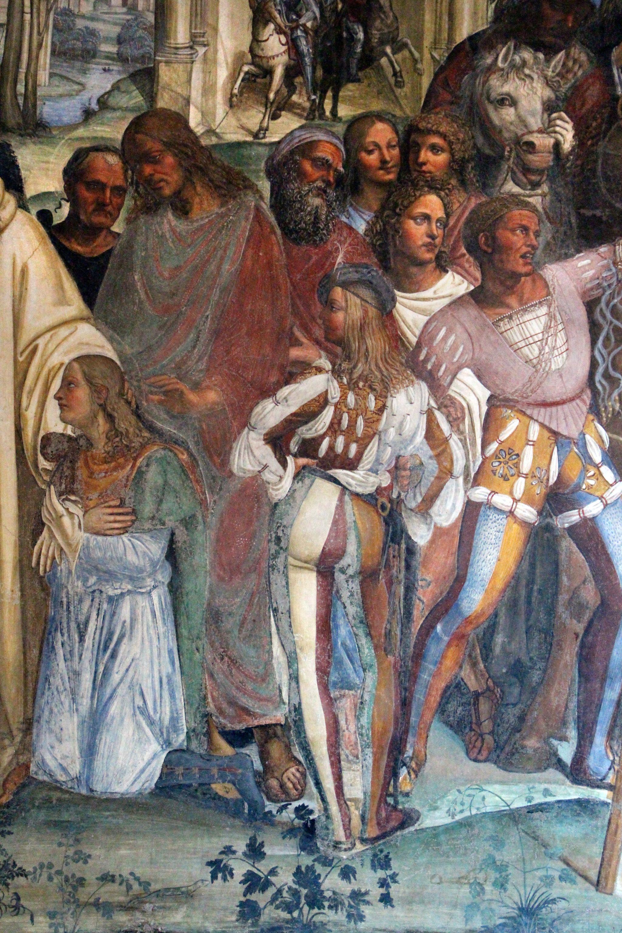 Storie di s. benedetto, 12 sodoma - Come Benedetto riceve li due giovanetti romani Mauro e Placido 06