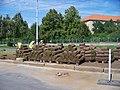 Strašnice, Průběžná, rekonstrukce TT, pokládka trávy (02).jpg