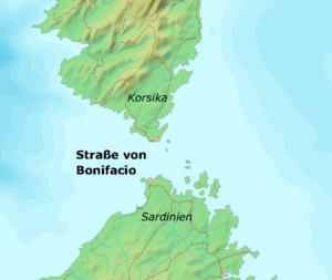 Strait of Bonifacio - Image: Strasse von Bonifacio