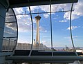 Stratosphere from a monorail station 2007.jpg
