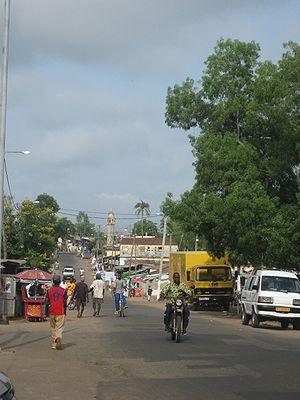 Kara, Togo - Image: Street in Kara