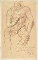 Study for a bronze sculpture, Athlète au Repos MET DP805936.jpg
