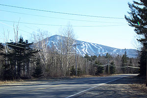 Maine State Route 27 - Sugarloaf USA seen from SR 27 (and SR 16) in Carrabassett Valley
