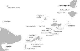 Carte de l'archipel de Sulu