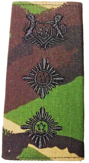 Superintendent (police) - Image: Superintendent of Police SPF camouflage epaulettes