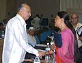 Sushil Kumar Shinde meeting with the Chief Minister of Rajasthan, Smt. Vasundhara Raje at the 53rd meeting of the National Development Council (NDC) on the Agriculture & Allied Sectors, in New Delhi on May 29, 2007.jpg