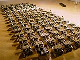 A swarm of robots from the Open-source micro-robotic project