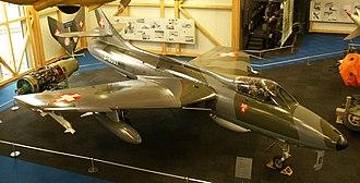 Swiss Air Force - Swiss Hawker Hunter Mk58 on display