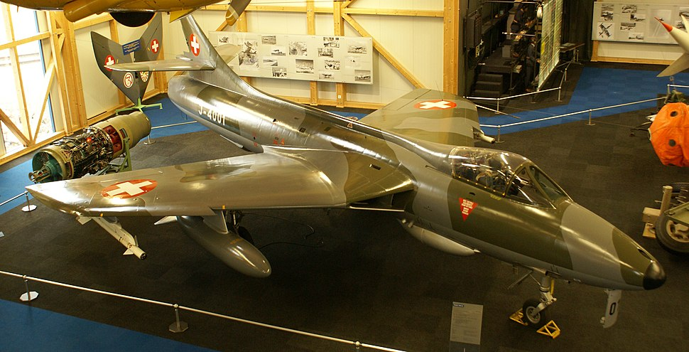 Swiss Air Force Hawker Hunter Mk.58 high frontal view