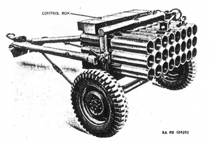 M16 (rocket) - The T66 launcher for the M16 rocket