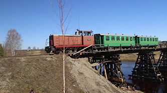 Файл:TU8 with passenger train.webm