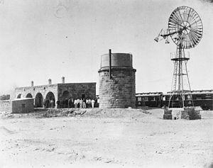 Dhat al-Hajj - The Hejaz Railway station at Dhat al-Hajj, 1916