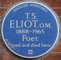 T S Eliot 3 Kensington Court Gardens blue plaque.jpg