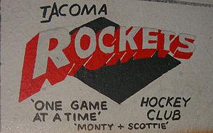Kelowna Rockets - Former Tacoma Rockets logo. Used 1991–94.
