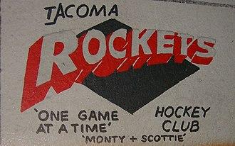 Tacoma Rockets - Old Tacoma Rockets logo.