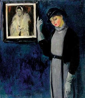 Tadeusz Pruszkowski - Image: Tadeusz Pruszkowski Portret młodej malarki II
