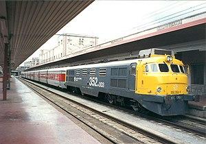 Talgo - A locomotive-hauled Talgo III train