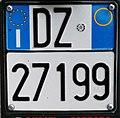 Targa automobilistica Italia 1999 DZ 27199 motocicletta.jpg