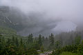 Tatry – Morkie Oko we mgle widok z pod Czarnego Stawu.jpg