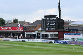 County Ground, Taunton - The secondary scoreboard