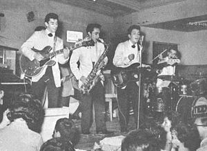 Rock en español - Los Teen Tops playing live in Argentina in 1962.