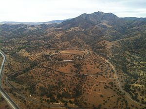 Tehachapi Loop - Aerial view from the North, June 2013.