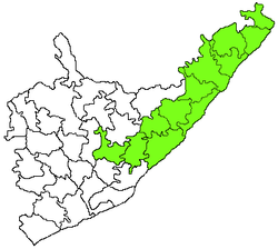Tekkali revenue division in Srikakulam district.png