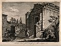 Temple of Aesculapius, Spalato (Split). Engraving by F. Bart Wellcome V0014507.jpg