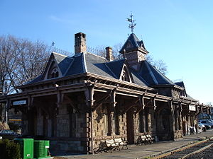 Tenafly, New Jersey - The former Tenafly Station, currently a restaurant