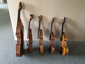 Tenor violin - Side view