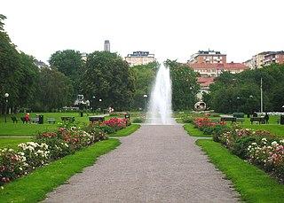 Gärdet urban district in central Stockholm