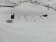 Test area of WSL Institute for Snow and Avalanche Research SLF, Weissfluhjoch, picture taken from Weissfluhjoch