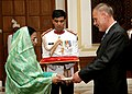 The Ambassador of Luxembourg to India, Mr. Marc Courte presented his credentials to the President, Smt. Pratibha Devisingh Patil at Rashtrapati Bhavan, in New Delhi on September 26, 2007.jpg