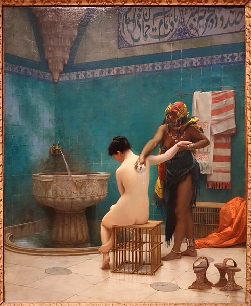 Datei:The Bath by Jean-Leon Gerome, France, c. 1880-1885, oil on canvas - California Palace of the Legion of Honor - DSC07772.JPG