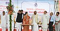 The Chairperson, National Advisory Council, Smt. Sonia Gandhi laying the foundation stone of Mainline Electrical Multiple Unit (MEMU) Coach Factory, near Rupaheli Station, Bhilwara District.jpg