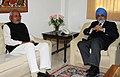 The Chief Minister of Bihar, Shri Nitish Kumar meeting the Deputy Chairman, Planning Commission, Shri Montek Singh Ahluwalia, in New Delhi on February 02, 2011.jpg