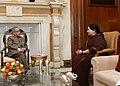 The Chief Minister of Tamil Nadu, Dr. J. Jayalalithaa calling on the President, Shri Pranab Mukherjee, at Rashtrapati Bhavan, in New Delhi on June 03, 2014.jpg