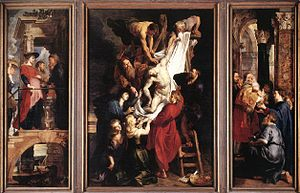 Triptychs by Francis Bacon - Peter Paul Rubens's 1612-1614 triptych The Descent from the Cross