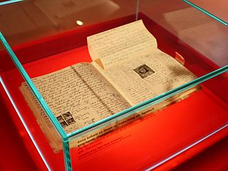 The Diary of a Young Girl by Anne Frank on display at the Anne Frank Zentrum in Berlin, Germany. from www.wikipedia.org