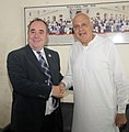 The First Minister of Scotland, Mr. Alex Salmond MSP called on the Union Minister for New and Renewable Energy, Dr. Farooq Abdullah, in New Delhi on October 14, 2010.jpg