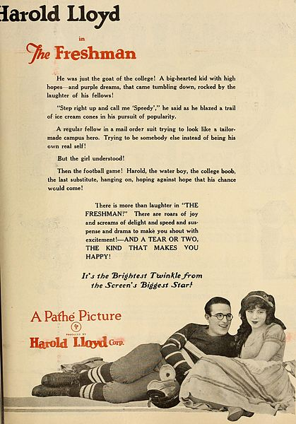 File:The Freshman ad - Harold Lloyd & Jobyna Ralston.jpg