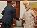 The Group CEO of Ericsson, Mr. Hans Vestberg calling on the Prime Minister, Shri Narendra Modi, in New Delhi on September 02, 2015.jpg