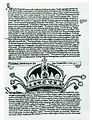 The Holy Crown of Hungary in the Fugger-chronicle in Munich, 1440.jpg