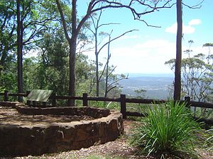 Scenic Rim - View north from Tamborine Mountain