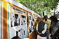 The Member of Parliament and former Minister of West Bengal, Prof. Pradip Bhattacharya going around the photo exhibition on the former Prime Minister, Pandit Jawaharlal Nehru on his 124th birth anniversary.jpg
